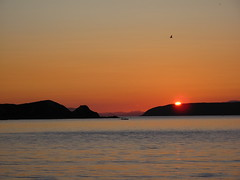 Sunset over Mana Island (Eyersh) Tags: sunset beach silhouette wellington plimmerton canong10