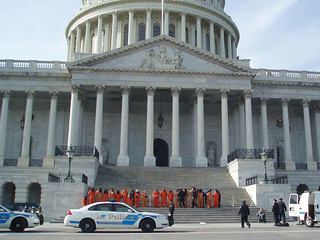 Anti-Torture Protest at the US Capitol Steps