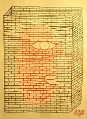 Human Building (*J*I*E*M*) Tags: art wall illustration bricks monotype jiem