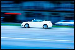 White speed (Joan Garau) Tags: barcelona white 3 blanco canon eos 50mm d bcn 9 diagonal ii mm 18 50 93 saab cabrio blanc 1000 1000d