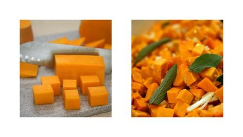 agnolotti di zucca (pumpkin ravioli) - preparing the pumpkin