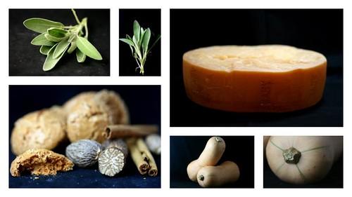 agnolotti di zucca (pumpkin ravioli) - ingredients