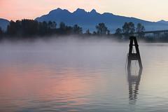 pink river. (kvdl) Tags: autumn fall river dawn october fraserriver goldenears barnstonisland kvdl canonef70200mmf28lisiiusm
