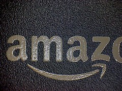 Amazon logo atop the Kindle 3