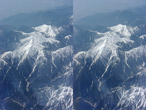 Mount Otensyo, stereo parallel view