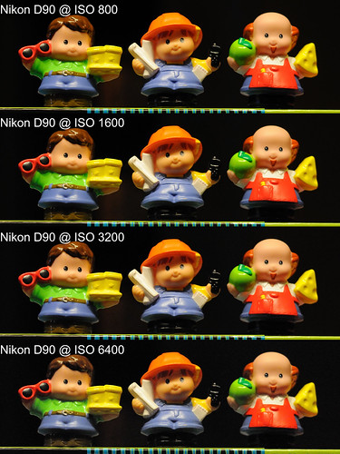 Nikon D90 High ISO Comparison - 3 Little People