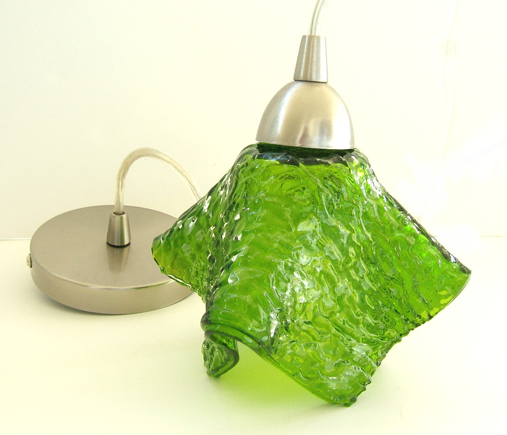 Pendant Lighting in Spring Green by Uneek Glass Fusions