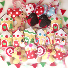 making progress (heartfelthandmade) Tags: christmas houses decorations men handmade gingerbread felt heartfelt