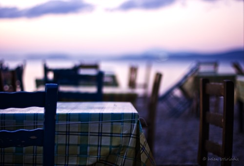 waiting for dinner on the beach at oropos