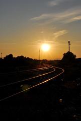 Sunset in the yard... (A.K Photographiti) Tags: sunset sun yard train graffiti tramonto sole treno vicenza trenitalia treni veneto autostazione