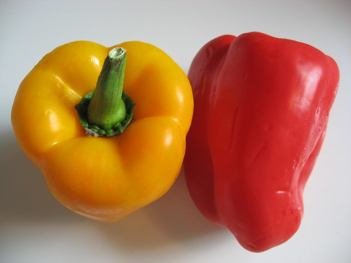 yellow + red peppers