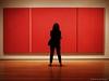 Confronting Art (CVerwaal) Tags: nyc newyorkcity red woman newyork pen moma olympus museumofmodernart barnettnewman virheroicussublimis olympusep1 mzuiko17mmf28 manheroicandsublime