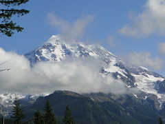 Rainier from viewspot about a mile outside park on Mowich road.