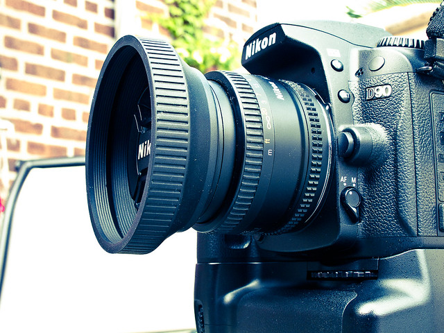 Extended Rubber Lens Hood on 50mm f/1.8