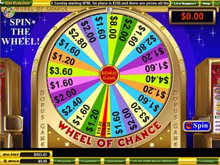 free Wheel of Chance slot bonus game