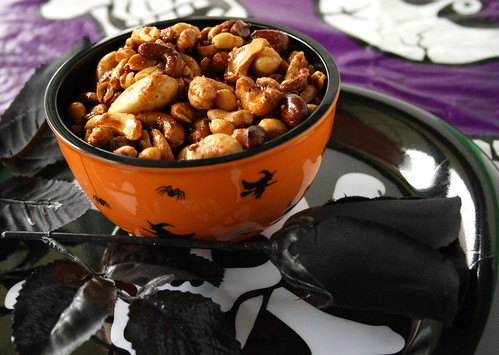 Halloween Spiced Nuts From Hell!