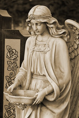 Angel with bowl in sepia (gmeilers) Tags: bigmomma thechallengegame challengegamewinner