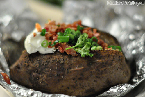 Loaded Baked Potato at Gordy's Steakhouse ~ Mahtomedi, MN