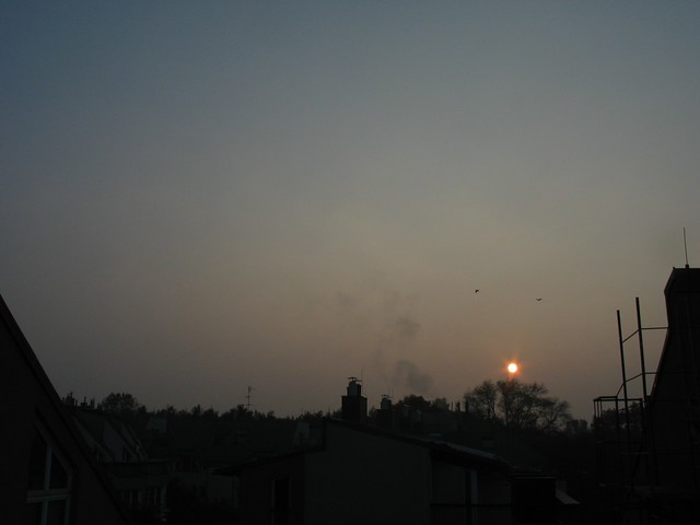 Sonnenaufgang, 14.Okt.2010, 7:58 MESZ