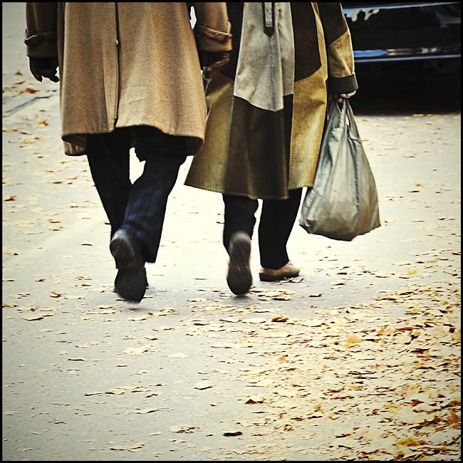 promenad genom stan