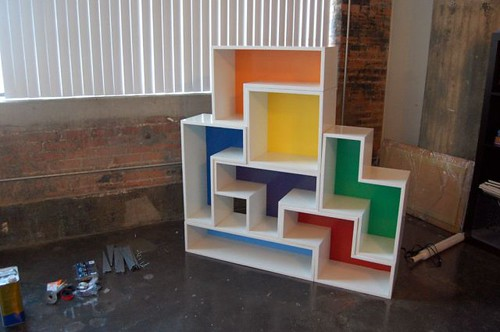 Tetris-regal1, bookshelf, DIY