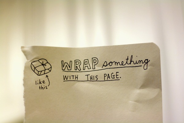 Wrap Something With This Page