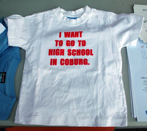 I want to go to high school in Coburg