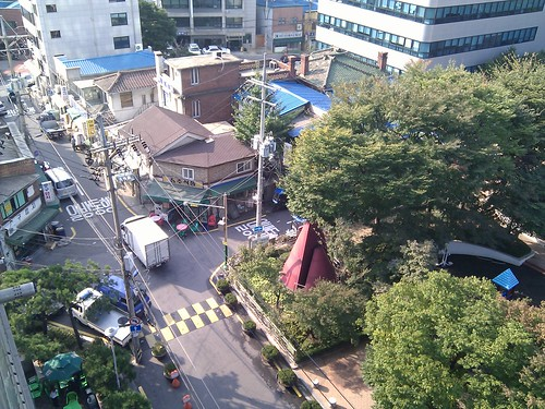View from our hotel in Seoul
