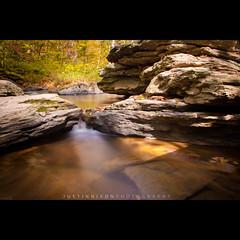 Goldenwater (JCNixonPhoto) Tags: longexposure fall creek landscape waterfall rocks leafs carrollcounty morganrun nd110