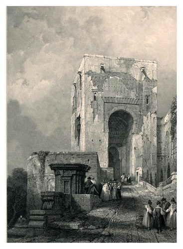 007-Puerta de la Justicia-Tourist in Spain-Granada-1835-David Roberts
