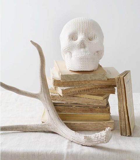 white sweater skull