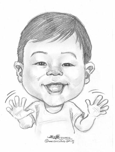 boy caricature in pencil 101010