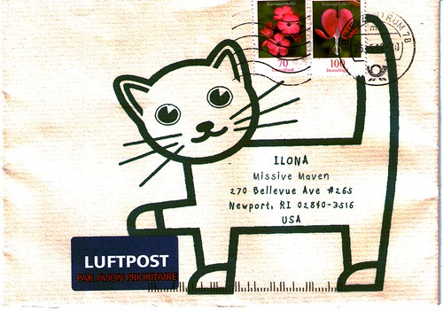 Cat envelope from Germany