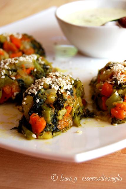 Polpette (autunnali) di verdure con fonduta al taleggio