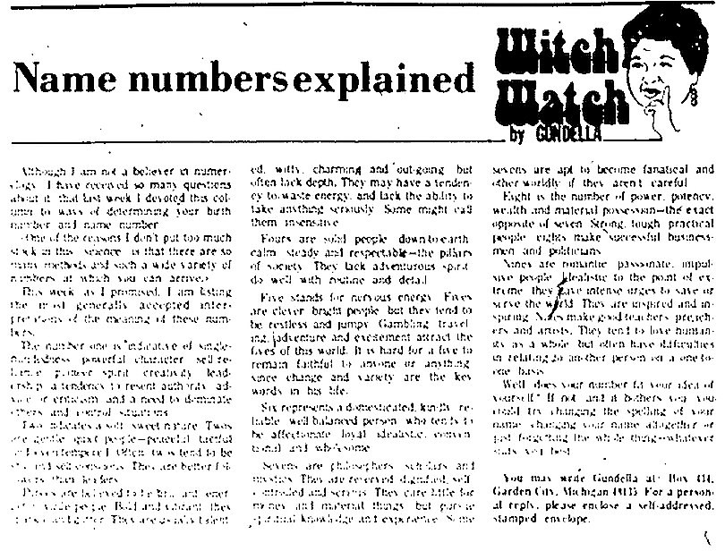 Witch Watch: Name numbers explained