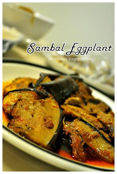 Shaine's Farewell Dinner: Sambal Eggplant