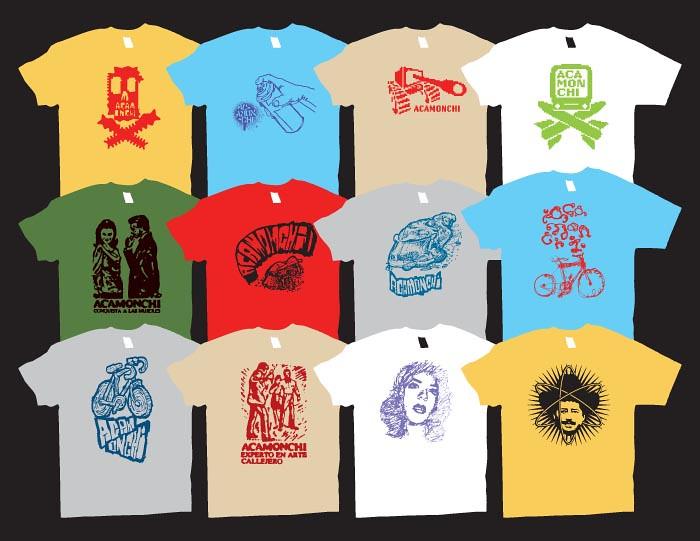 Acamonchi t-shirts x gentlemen