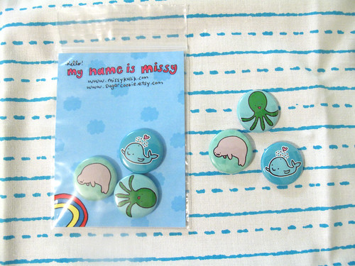 Sea Critters Button Set