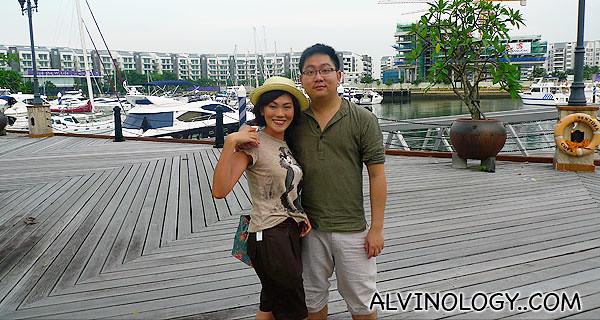 Rachel and i at ONE°15 Marina Club