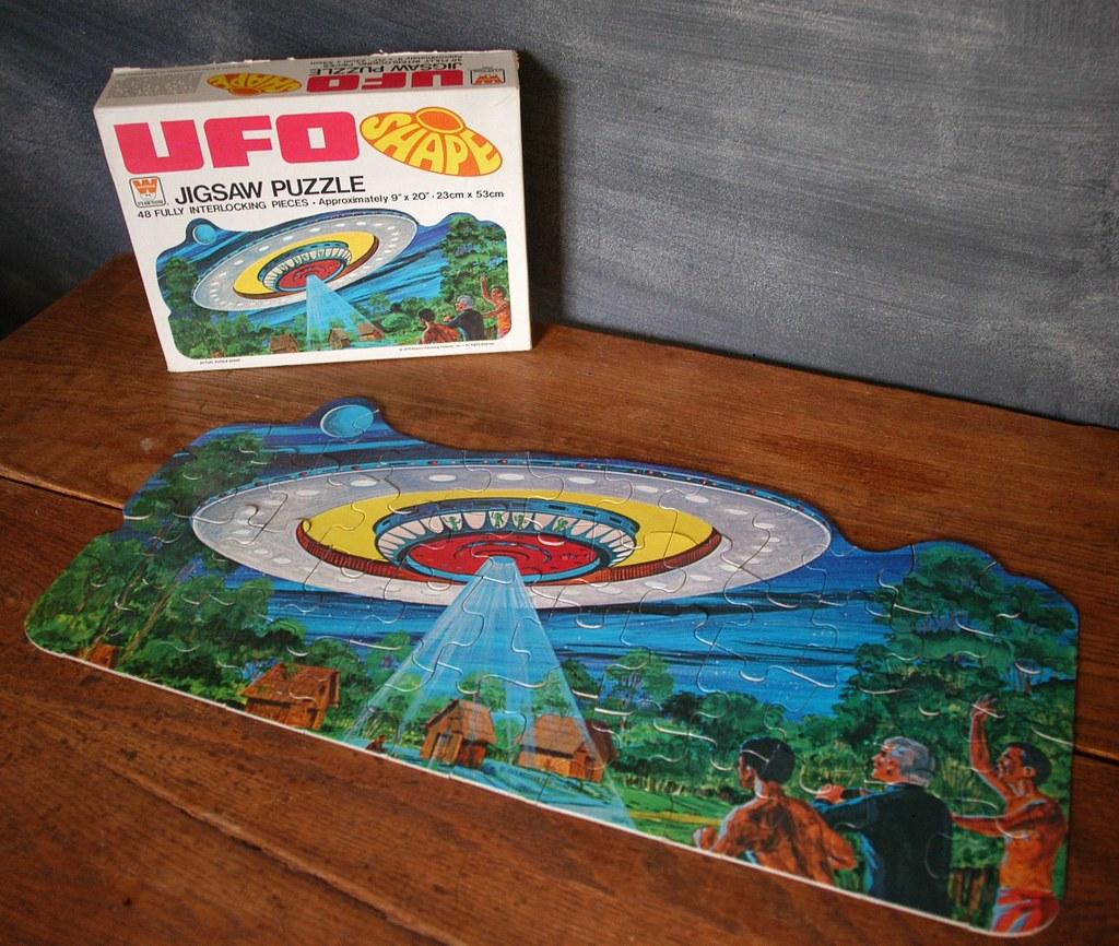 Pristine UFO Jigsaw Shape Puzzle 1979