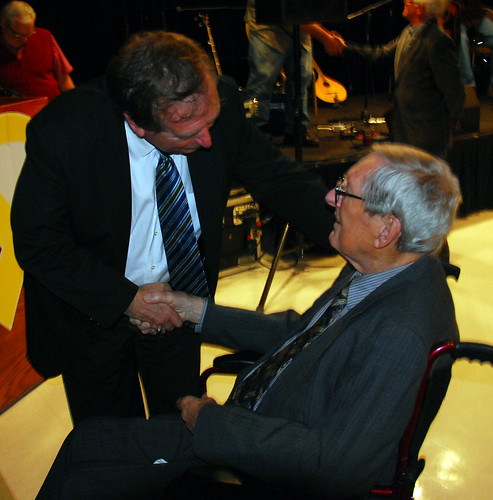 The Honourable Tom Hedderson with Dr. Alton Smith