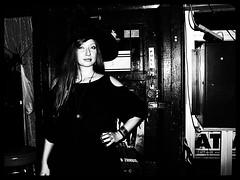 it's halloween, Kasia @ lucy's bar (Street Witness) Tags: street nyc halloween bar samsung lucys nv7
