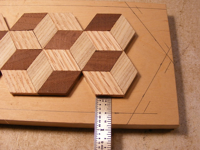 Making a Tumbling Block Cribbage Board #11