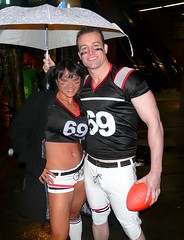 Team 69 (sea turtle) Tags: seattle costumes halloween sports rain sport pine costume football broadway rainy athletes 69 pike athlete pinestreet capitolhill pikestreet footballplayer footballteam