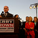 Jerry Brown Oakland rally with Kamala Harris, Barbara Boxer