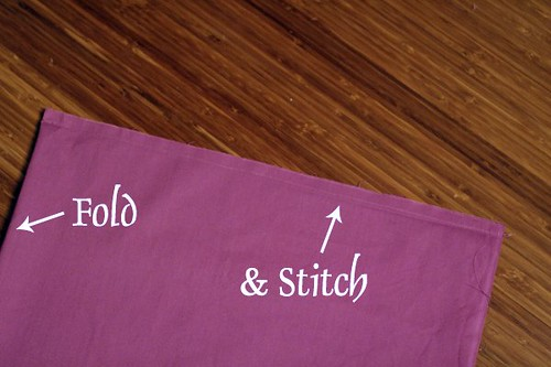 Pillowcase Fold-Stitch
