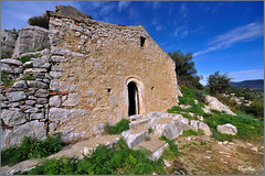 (Vasilis.) Tags: blue green castle church greece griechenland soe arcadia ellada karitaina platinumphoto d700 peloponhsos nikon1424