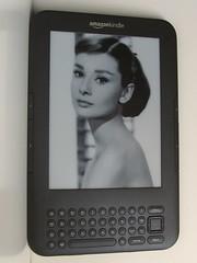 Audrey Hepburn on a Kindle