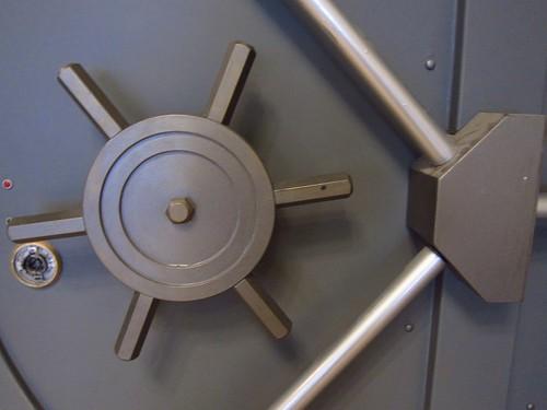 vault at a bank