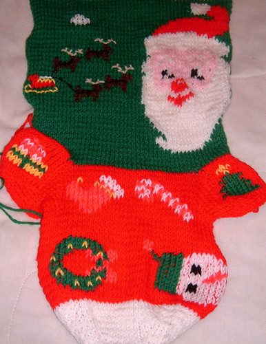 Santa Stocking Embellished